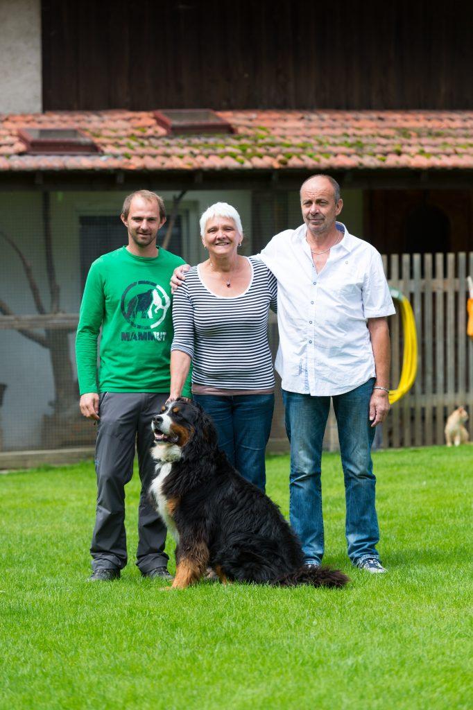 Manuel Schmid und Familie Riegler