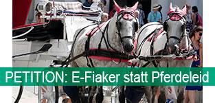 Petition: E-Fiaker statt Pferdeleid